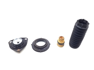 Front shock absorber support cushion with bearing