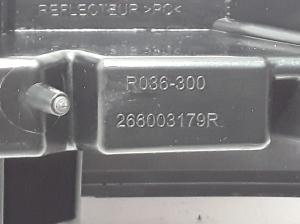 Front bumper reflector